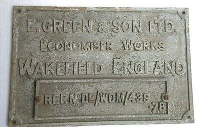 Vintage Brass Ship Name Plate From E. Green & Sons Ltd. Wakefield England - 1978