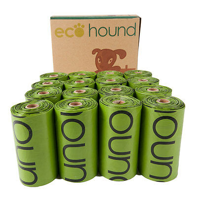 Ecohound Biodegradable Dog Poo Bags Waste Bags On A Roll Unscented Poop Bags