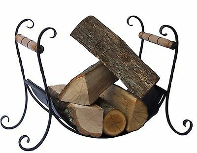 Fireplace Accessories Wood Holder Hand-Forged Iron Fire Companion  MODEL K02
