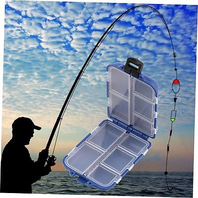 8 Compartments Storage Case Box Fly Fishing Lure Spoon Hook Bait Tackle Box OK