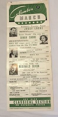 Columbia March 1949 Release Shop Poster, Doris Day etc