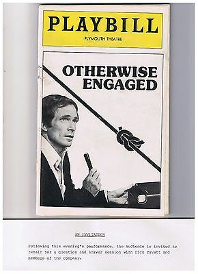 Dick Cavett Otherwise Engaged Playbill Plymouth Theater 1977