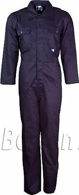 Mens Boilersuit Overall Coverall Workwear Boiler Suit Big Sizes Up To 50 Inches