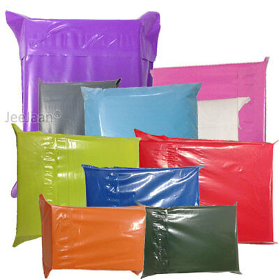 Strong Coloured Plastic Mailing Post Poly Postage Bags Self Seal Polythene