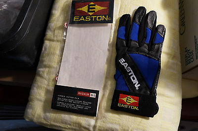 NEW EASTON MAGNUM ADULT RIGHT HAND SMALL BASEBALL BATTING GLOVE one glove blue