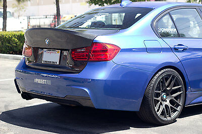 Svn Carbon Fiber Csl Style High Kick Full Trunk Lid 2012-14 Bmw F30 F80 M3 Sedan