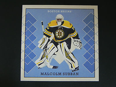 2015-16 O-Pee-Chee OPC V Series B Set #38 Malcolm Subban Boston Bruins ROOKIE RC