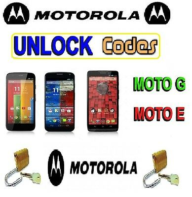 Motorola Unlock Code For Moto G XT1032 VODAFONE UK Unlocking Code