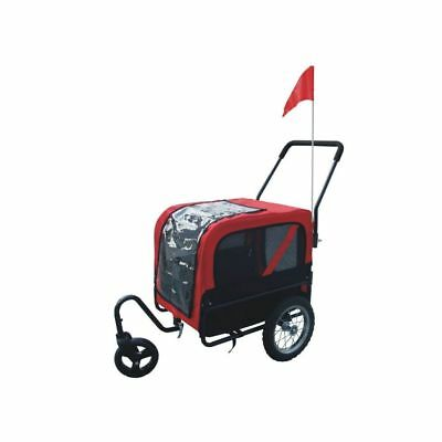 New Dog Bike Bicycle Trailer Storller Jogger Outdoor Black And Red