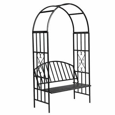 vidaXL Rose Arch with Bench Garden Patio Arbour Pergola Plant Climbing Support
