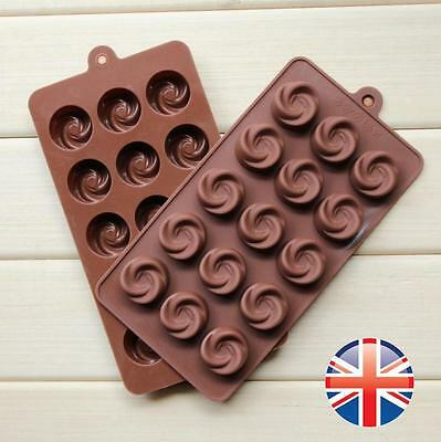 *UK Seller* Chocolate Swirl Silicone Mould Bakeware