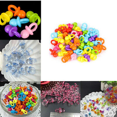 50pcs Mini Pacifiers for Girl / Boy Baby Shower Party Favor Cake Decor