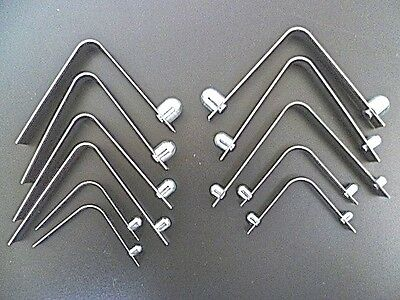 PUSH BUTTON SPRING CLIP TUBE LOCKING PIN - 5mm To 11mm Buttons - BUY 2 To 10