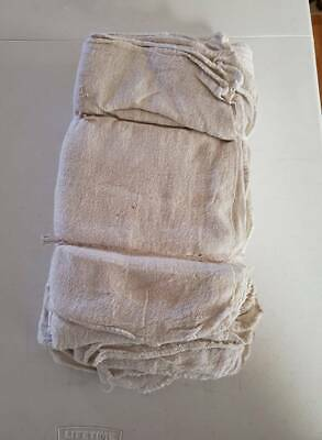"""1000 INDUSTRIAL SHOP RAGS / CLEANING TOWELS WHITE LARGE 14""""x14"""" COMMERCIAL"""
