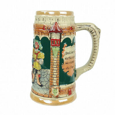 German Castle Engraved Beer Stein without Lid