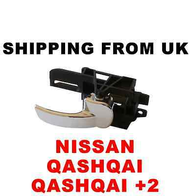 Nissan Qashqai +2 Chrome Inner Interior Door Handle Rear Right Off Side Rh