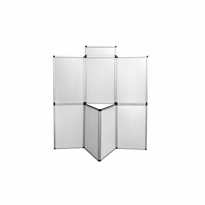 New Display Board White Folding Exhibit 7 Panels 1 Header Showboard W/table Alu
