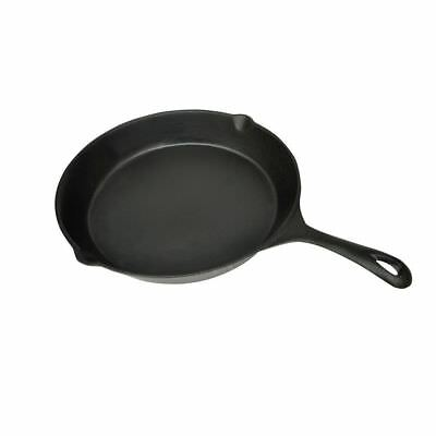 Xl Bbq Grill Fry Pan Cast Iron 30Cm Round Barbecue Kitchen Barbeque