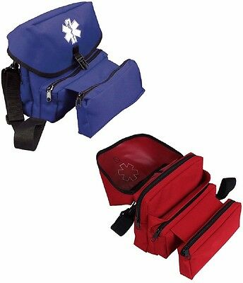 EMS First Aid Medical Emergency Rescue Field Kit Bag Rothco Red OR Blue