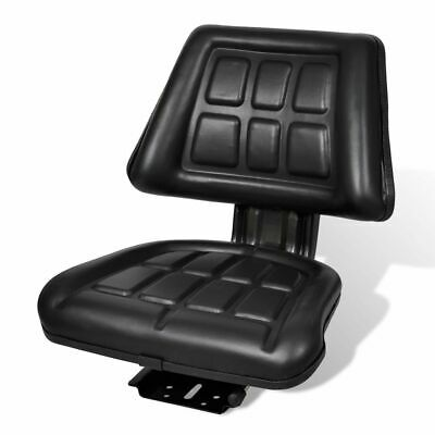 vidaXL Tractor Seat with Backrest Black Comfortable Quality Replace Accessory