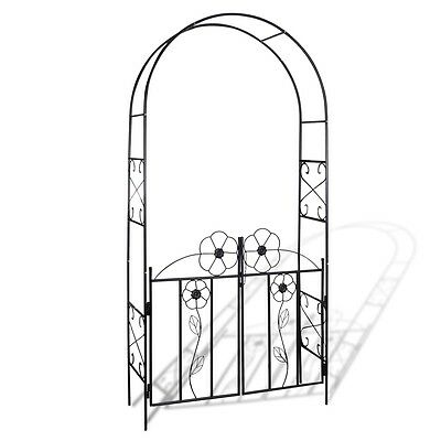 NEW Garden Arch Door Gate iron arch for climbing plants and roses patio arch