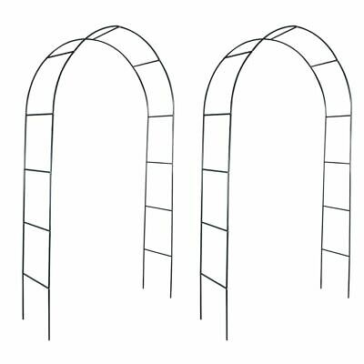 NEW Iron Garden Arch for Climbing Plants and Roses 2pcs Garden Gate Archway