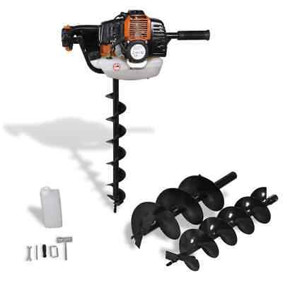 NEW Auger Ground Drill 3 pcs included Orange Max power: 1,8 kw / 9500 rpm