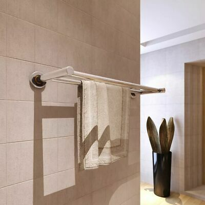 New Stainless Steel Towel Rack Towel Rails 2 Tubes High-quality Wall Mounted
