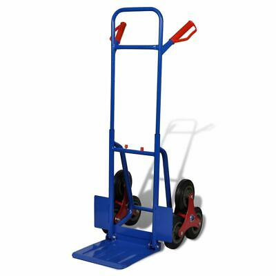 vidaXL 6-wheel Sack Truck with 150kg Capacity Blue-red Transport Carrier Cart