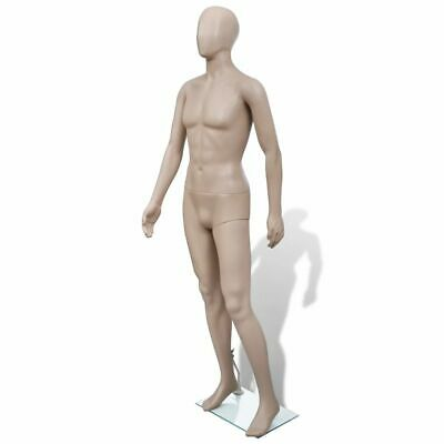 New Dress Form Mannequin Man Glass Base Skin Colour Rotatable Arm Round Head