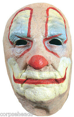 Old Clown Face Halloween Horror Movie Mask Prop