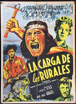 672 MASSACRE original Mexican movie poster 1956 La Carga de los Rurales