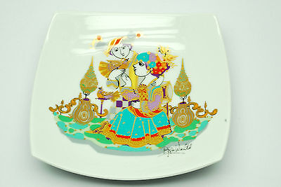 """ROSENTHAL GERMANY STUDIO LINE """"Commedia dell' arte""""  Square concave plate 7"""""""