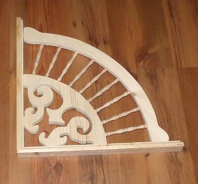 "Victorian Wood Gingerbread ~ 18"" DELUXE SPINDLE FAN Trim Bracket #47 ~ by PLD"