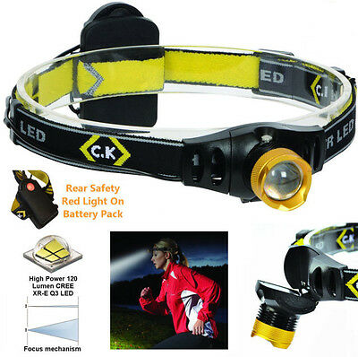 Ck T9620 Led Head Torch - 200 Lumens - 3 Modes - Camping, Cyclists, Runners