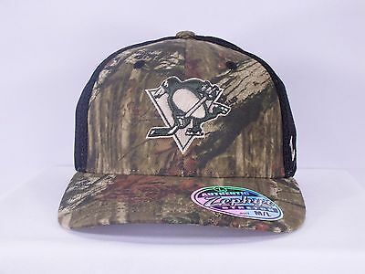 Pittsburgh Penguins Nhl Adult Flex Fit Preshaped Mesh New Hat Cap By Zephyr A85