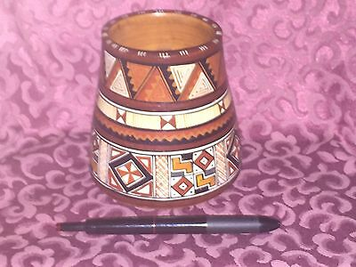 Cusco Peru Cup or Small Vase, Authentic Andes Pottery