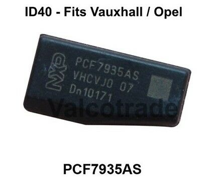 NUOVO Transponder ID40 T12 Chip Chiave per Vauxhall PCF7935AS Astra Corsa Vectra