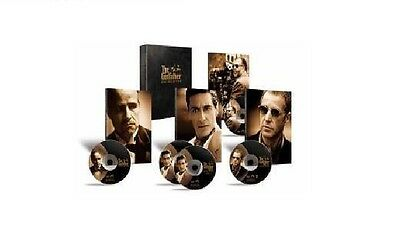 GODFATHER Trilogy Complete DVD 5 Disc Collection Set Part 1 2 3 Box New Sealed