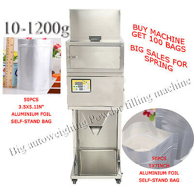 Quality First  NEW Big autoweighing Powder filling machine (10-1200g) 110V