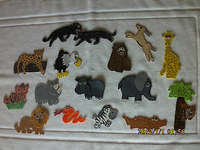 Felt Board/ Story Rhyme Teacher Resource - Jungle Animals/nature/forest/wild