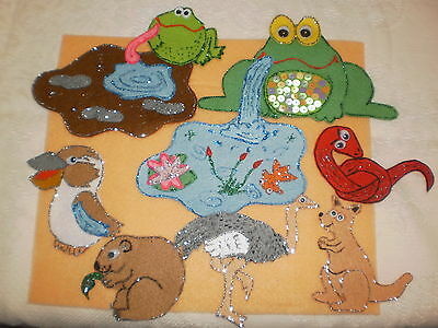 Felt Boards Story Indigenous Dreamtime Resource - Tiddalik The Frog