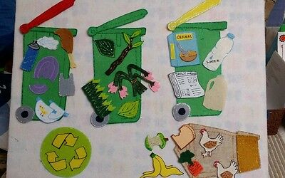 Felt Board Flannel Story Teacher Resource - Reduce  Re-Use  And Recycle