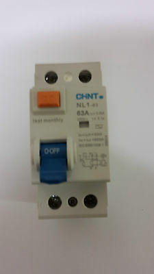 CHINT NL1-63, 63A 30mA RCD Double Pole RCD