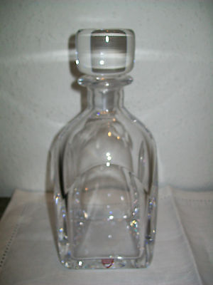 Kosta Orrefors Illusion Carafe New W/ Decal No Longer
