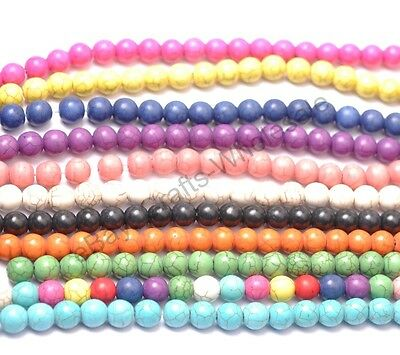 6MM 8MM 10MM 12MM 14MM Howlite Turquoise Spacer Loose Beads Charms Jewelry