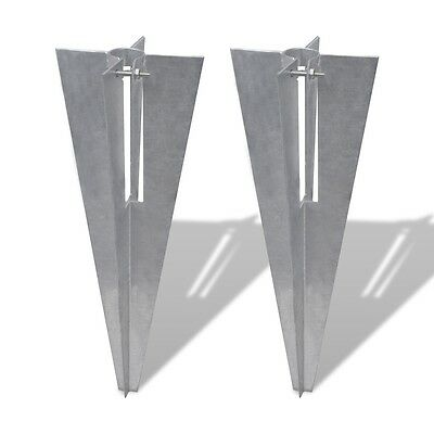 New Pole Spike/ Straight Post Supporter Fence Spike Anchor Rust Resistant 2 Pcs