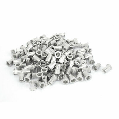 M6x15mm Aluminum Flat Head Knurled Body Rivet Nut Insert Nutserts 300 Pcs