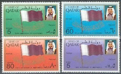 Qatar 1981 ** Mi.810/13 Unabhängigkeit Independence Flaggen Flags
