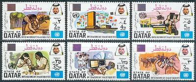 Qatar 1973 ** Mi.573/78 United Nations Day Tag der UNO Schwester Nurse Radar